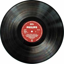 A vinyl LP record