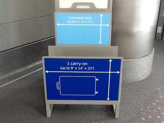 how to carry a large portrait in british airways